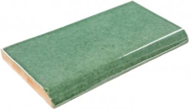 Surface Bullnose: Verde Hoja - Talavera Mexican Tile