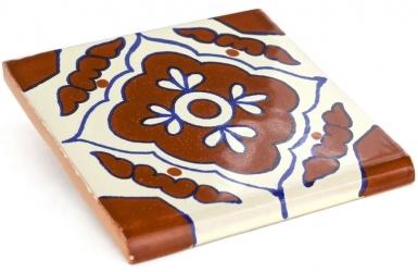 Surface Bullnose: Toledo - Talavera Mexican Tile