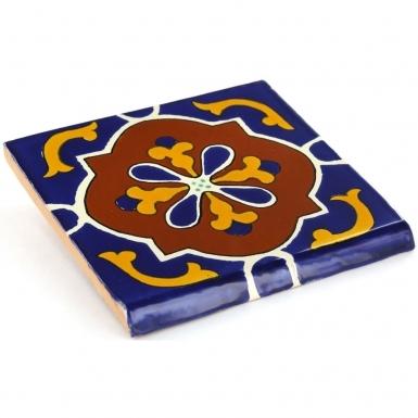 Surface Bullnose: Libro - Talavera Mexican Tile