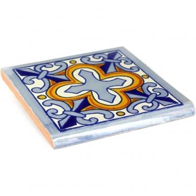Surface Bullnose: Escudo - Talavera Mexican Tile