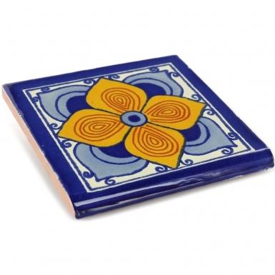 Surface Bullnose Flor Sevillana Talavera Mexican Tile