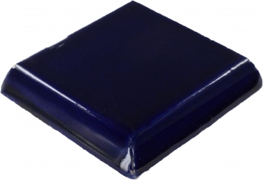 Double Surface Bullnose: Cobalt Blue - Talavera Mexican Tile