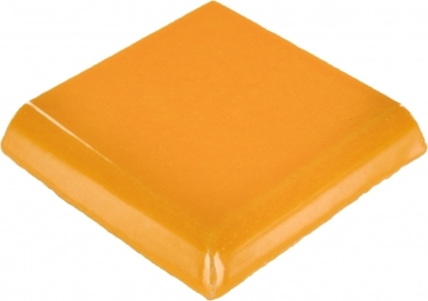 Double Surface Bullnose: Tangerine Yellow - Talavera Mexican Tile