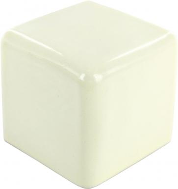 V-Cap Corner: Mexican White - Talavera Mexican Tile