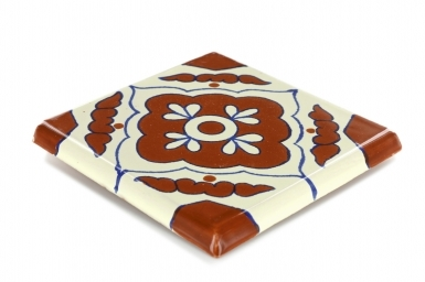 Double Surface Bullnose: Toledo - Talavera Mexican Tile
