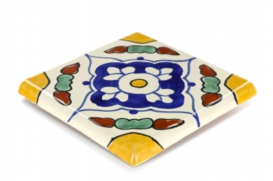 Double Surface Bullnose: Guadalajara - Talavera Mexican Tile
