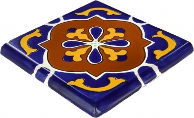Double Surface Bullnose: Libro - Talavera Mexican Tile