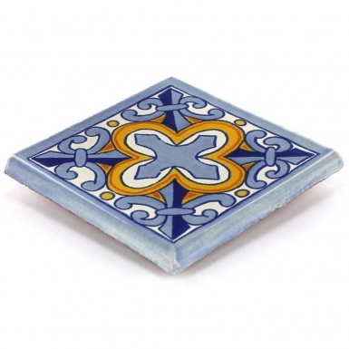 Double Surface Bullnose: Escudo - Talavera Mexican Tile