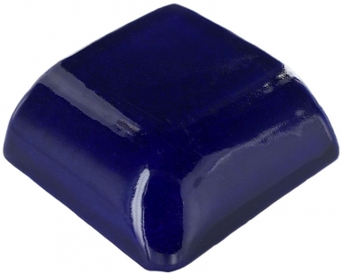 Double Mud Bullnose: Cobalt Blue - Talavera Mexican Tile