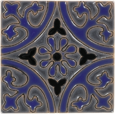 La Quinta Gray & Blue 2 Gloss Santa Barbara Ceramic Tile