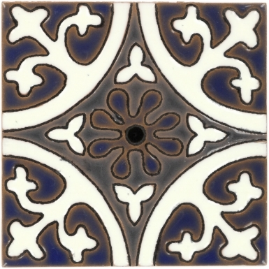 La Quinta White & Blue 2 Gloss Santa Barbara Ceramic Tile