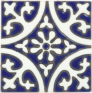 La Quinta White & Blue 1 Gloss Santa Barbara Ceramic Tile