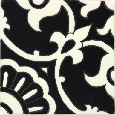 Avidan Black & Ivory 2 Gloss Santa Barbara Ceramic Tile