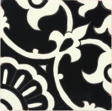 Avidan Black & Ivory 2 Gloss Santa Barbara Ceramic Tile