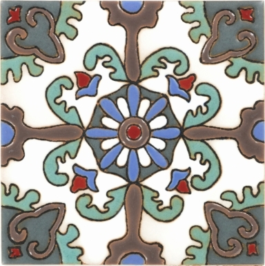 Rosario Teal Santa Barbara Ceramic Tile