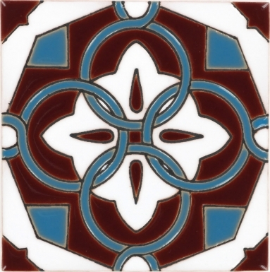Atadena Merlot Gloss Santa Barbara Ceramic Tile