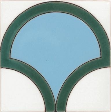 Bell Turquoise Gloss Santa Barbara Ceramic Tile