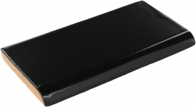 Surface Bullnose: Obsidiana Gloss - Santa Barbara Ceramic Tile