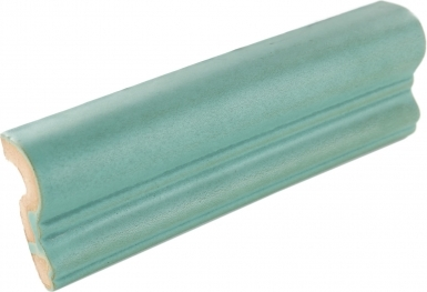 Chair Rail: Light Teal Matte - Santa Barbara Ceramic Tile