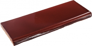Surface Bullnose: Merlot Gloss - Santa Barbara Ceramic Tile