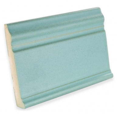 Base Molding: Light Teal Matte - Santa Barbara Ceramic Tile