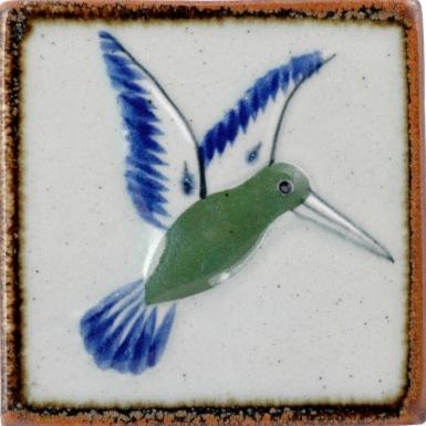 Hummingbird Tenampa Stoneware Tile