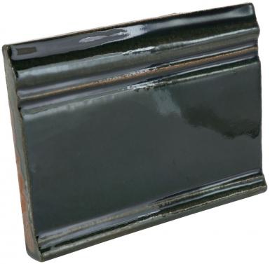 """4.25"""" x 5.75"""" Deep Emerald Gloss Base Molding - Tierra High Fired Glazed Field Tile"""