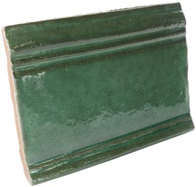 "4.25"" x 5.75"" Emerald Gloss Base Molding - Tierra High Fired Glazed Field Tile"