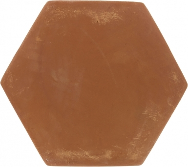 "11.875"" x 13.375"" Unsealed Hexagon - Spanish Mission Red Floor Tile"