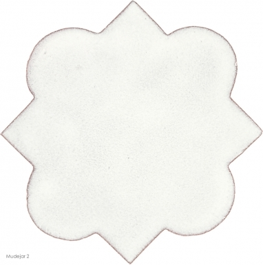 "4.625"" x 4.625"" Ivory Gloss Mudejar 2 - Tierra High Fired Glazed Field Tile"