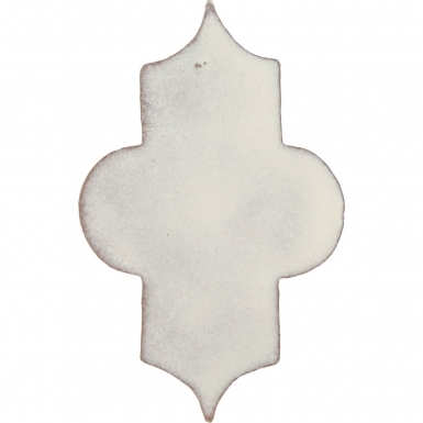 "4"" x 6.5"" Ivory Gloss Mamounia - Tierra High Fired Glazed Field Tile"