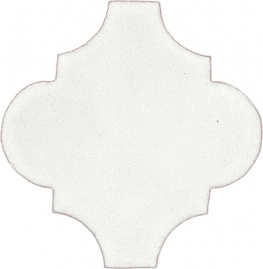 "6.5"" x 6.5"" Ivory Gloss Andaluz - Tierra High Fired Glazed Field Tile"