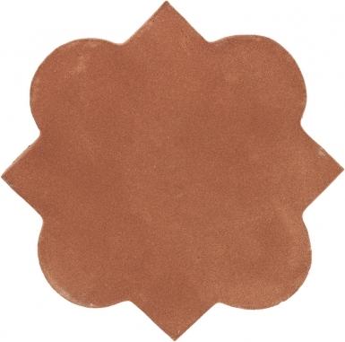 "4.625"" x 4.625"" Mudejar 2 - Tierra High Fired Floor Tile"