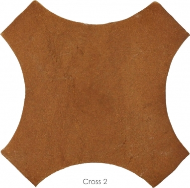 "6.5"" x 6.5"" Cross 2 - Tierra High Fired Floor Tile"