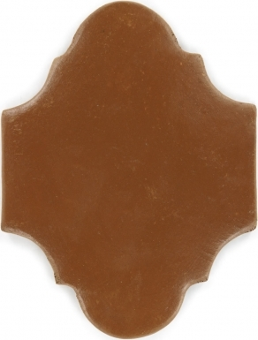 "8.5"" x 11.25"" Sealed Arabesque 2 - Spanish Mission Red Floor Tile"