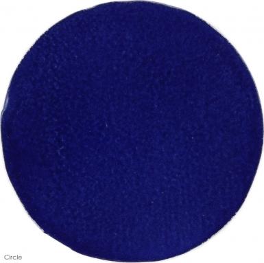 "6"" x 6"" Sapphire Blue Gloss Circle - Tierra High Fired Glazed Field Tile"