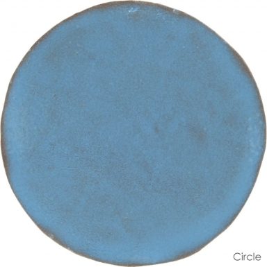 "6"" x 6"" Turquoise Gloss Circle - Tierra High Fired Glazed Field Tile"