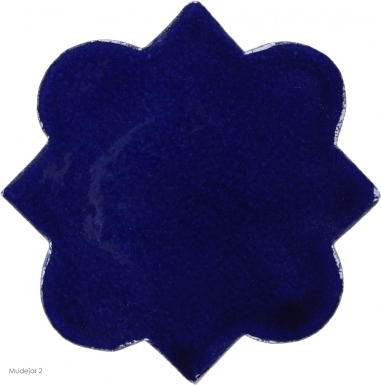 "4.625"" x 4.625"" Sapphire Blue Gloss Mudejar 2 - Tierra High Fired Glazed Field Tile"