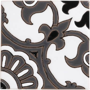 Alva Black & Gray Gloss Santa Barbara Ceramic Tile