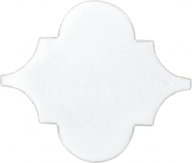 "7.75"" x 8.375"" Pure White Gloss Arabesque Picket - Tierra High Fired Glazed Field Tile"