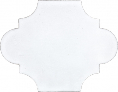 "8.375"" x 10.625"" Pure White Gloss Arabesque 2 - Tierra High Fired Glazed Field Tile"