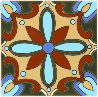 Mira Monte 4 Gloss Santa Barbara Ceramic Tile