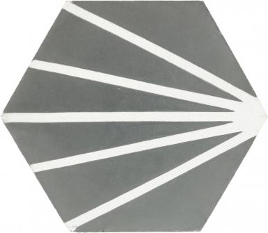 8 in. Light Raise Hexagon - Barcelona Cement Floor Tile