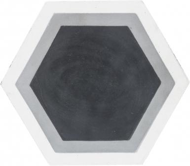 8 in. Tricolor Hexagon - Barcelona Cement Floor Tile