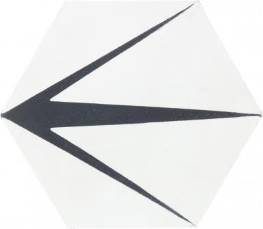 8 in. 3 Points Hexagon - Barcelona Cement Floor Tile
