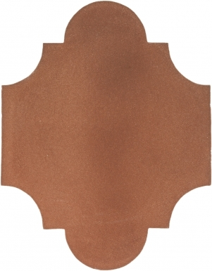 "8.375"" x 10.625"" Arabesque 2 - Tierra High Fired Floor Tile"
