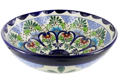 Tabasco Talavera Round Vessel Above-Counter Bathroom Sink