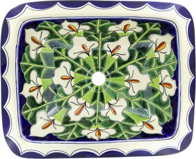 Callalilies Talavera Rectangular Drop-In Bathroom Sink