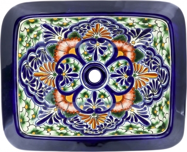 Sardinia Talavera Rectangular Drop-In Bathroom Sink