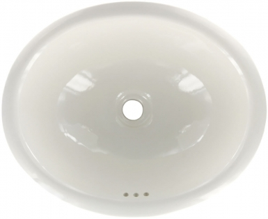 Off-White Talavera Ceramic Oval Drop In Bathroom Sink
